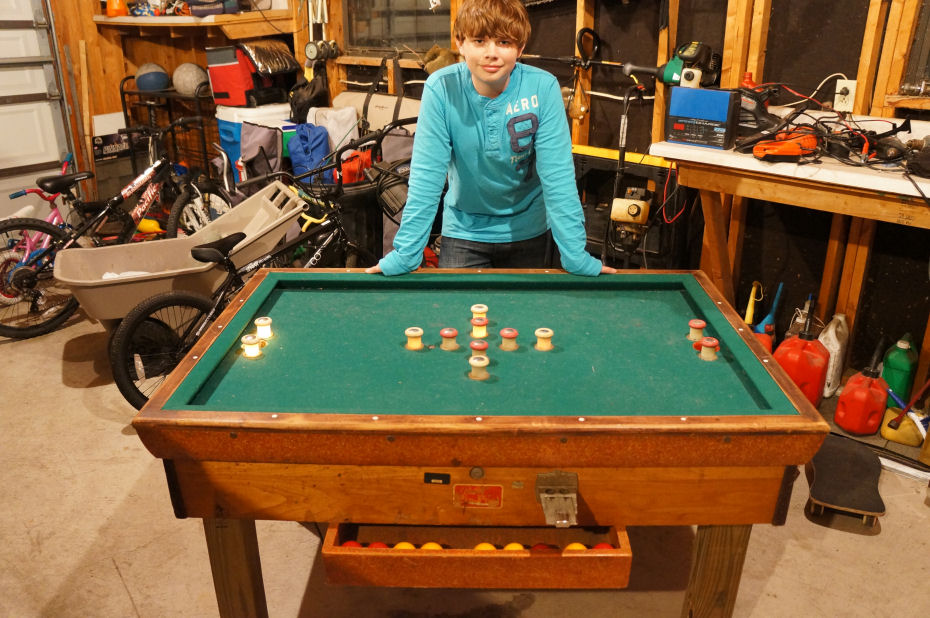 Bally 39 s pin pool 1956 info needed lighted bumper pool for Pool game show