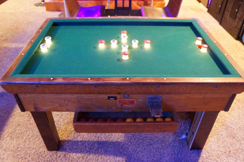 The basement arcade - Bumper pool bumpers ...